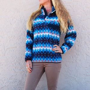 NWT Tribal Pattern Synchilla Snap T Pullover